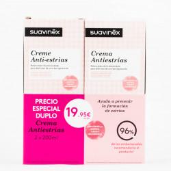 Suavinex Crema Anti-estrías DUPLO, 2x200ml.