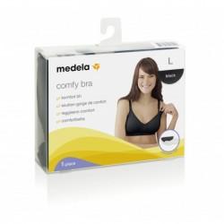 Medela Comfy Bra sujetador de embarazo y lactancia negro, 1 unidad