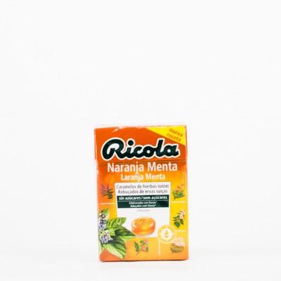 Ricola Caramelos Naranja-Menta, 50g.