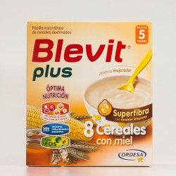 Blevit Plus Superfibra 8 cereales con Miel, 600 g.