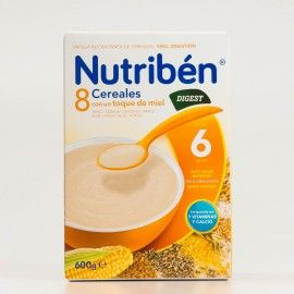 Nutriben 8 Cereales y Miel Digest, 600g.