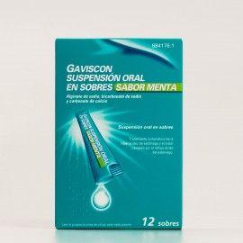 Gaviscon suspensión oral 12 sobres sabor menta