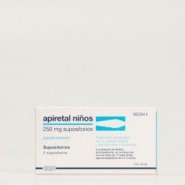 Apiretal niños 250 mg supositorios
