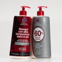 Neutrogena Loción corporal reparación intensa duplo. Piel sensible. 2x750ml
