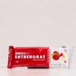 Obegrass Entrehoras Barrita Saciante Chocolate Blanco y Frutos Rojos.