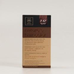 Tinte apivita 7.47 cobre-beige