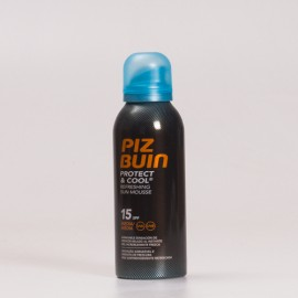 Piz Buin SPF15 Protect & Cool Mousse Solar Refrescante, 150ml.