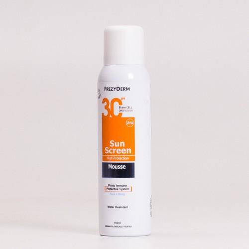 FrezyDerm SunScreen Mousse SPF30, 150ml.