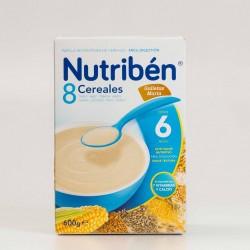 Nutribén 8 Cereales Galletas María, 600g.