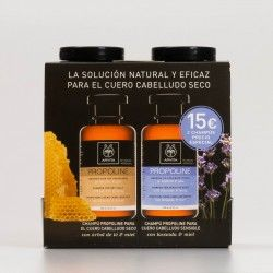 Apivita Pack champús cuero cabelludo seco+sensible. 250+250ml