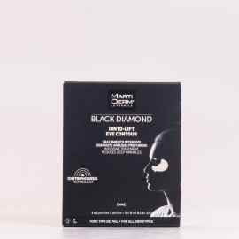 Martiderm Black Diamond Ionto-Lift Contorno de Ojos, 4x2 parches + 4ml Gel.
