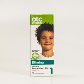 OTC Antipiojos 1 Elimina Loción Permetrina 1,5%, 125ml.