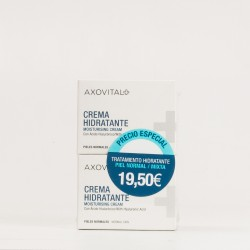 Axovital hidratante piel normal, duplo 2x50 ml.