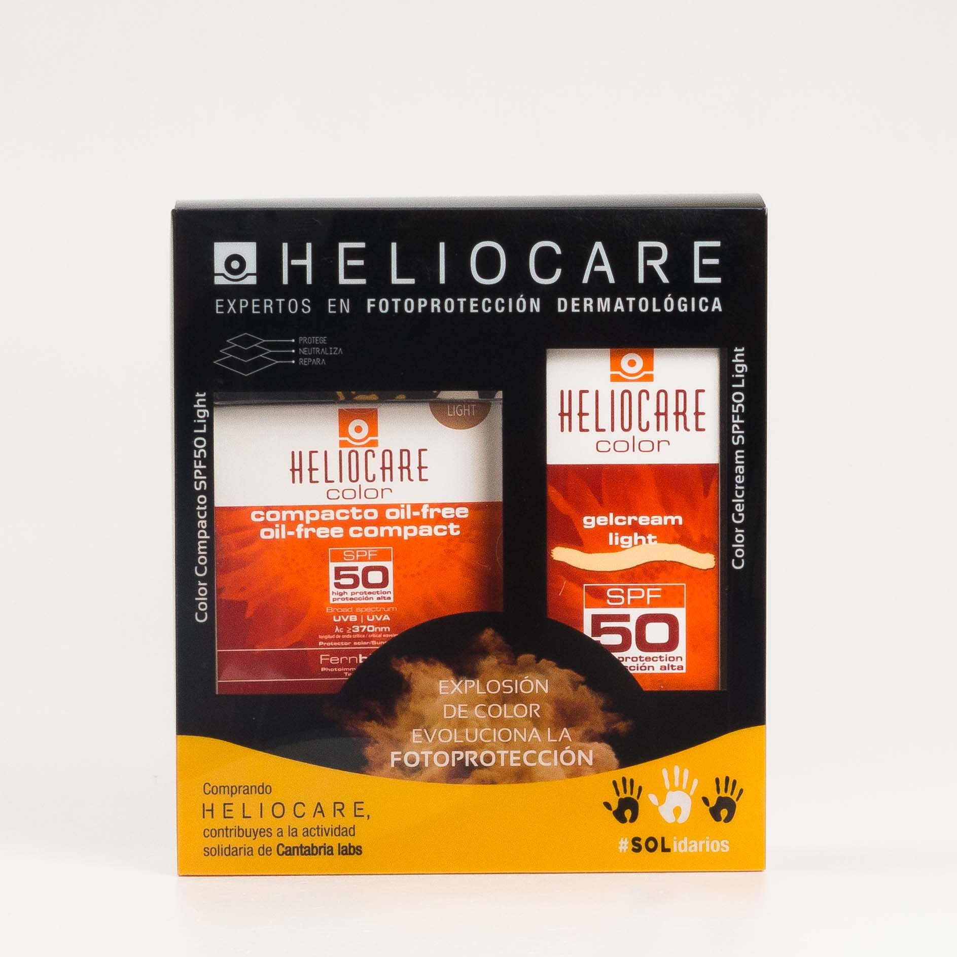 Pack Oferta Heliocare Gel-crema Light + Heliocare Compact Oilfree Light